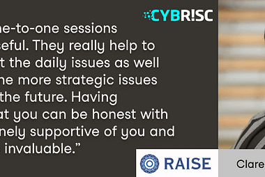 Raise Ventures Accelerator review with Clare Ryan, startup founder with CYBR!SC.