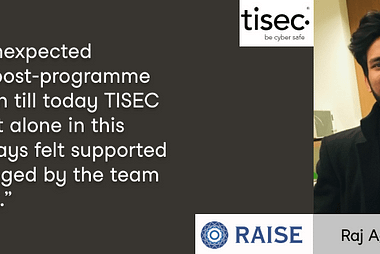 Raise Ventures Accelerator review with Raj Agarwal, startup founder at tisec.io